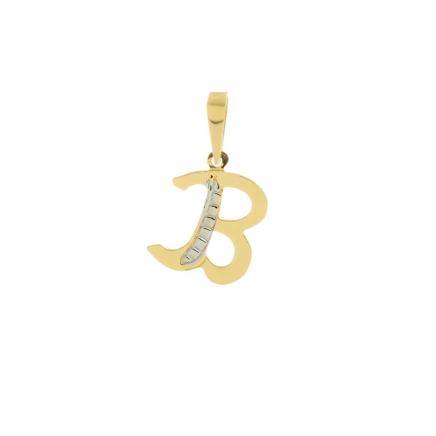 6f3a23318 B betű alakú medál sárga aranyból | Kivaloarany.hu